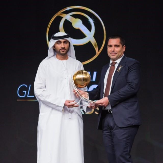 Riccardo Silva at the Globe Soccer Awards in Dubai