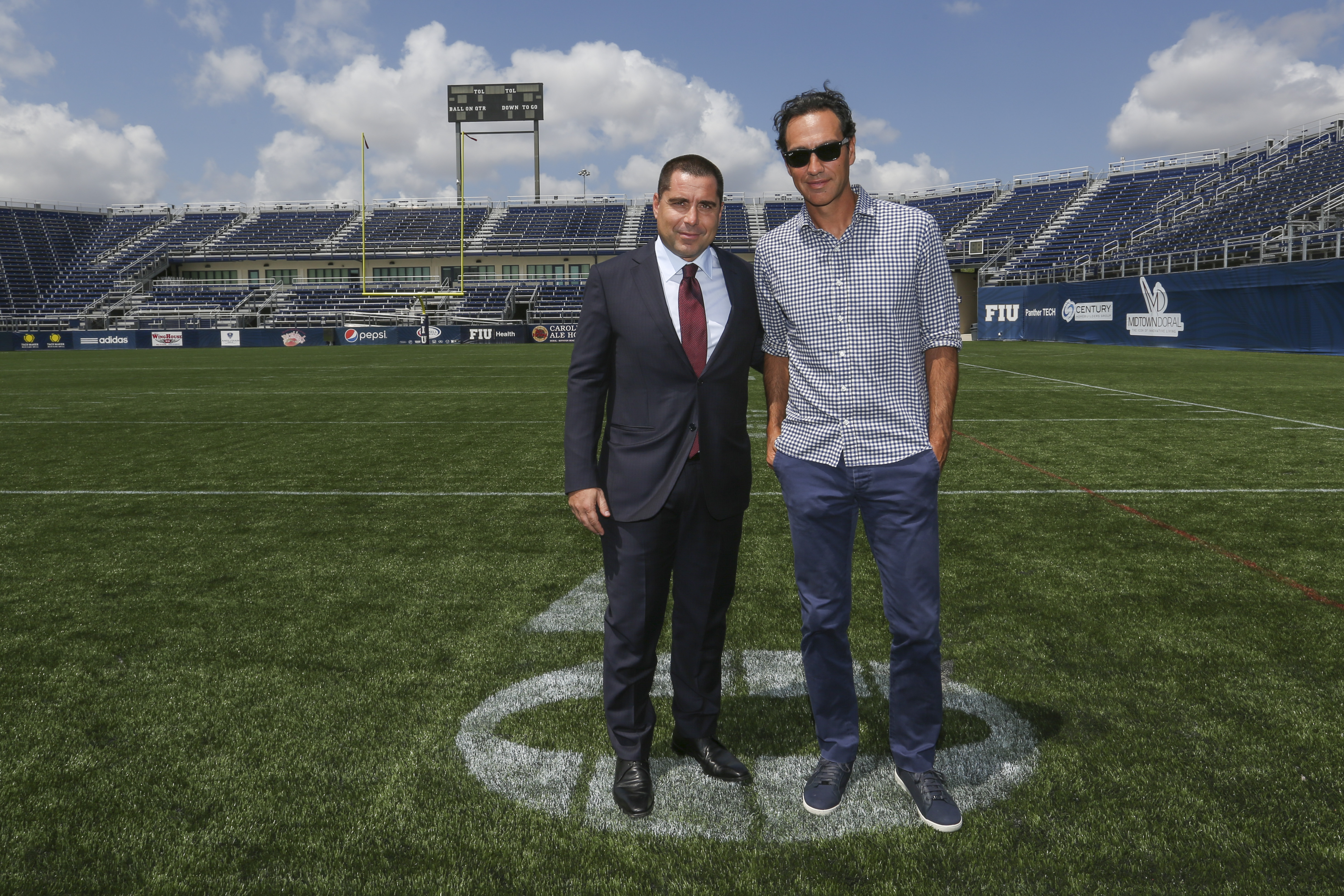 Riccardo Silva and Alessandro Nesta at The Riccardo Silva Stadium