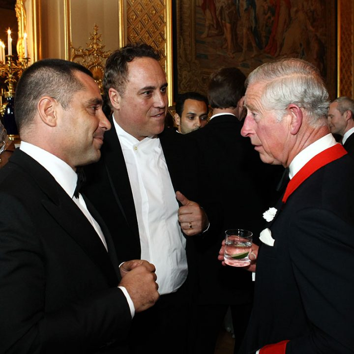 Riccardo Silva, Chad Oppenheim and Prince Charles
