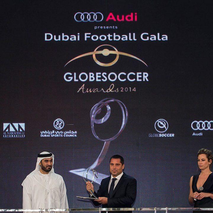 Riccardo Silva Globe Soccer awards Dubai