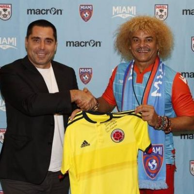 "Riccardo Silva with Carlos ""El Pibe"" Valderrama"