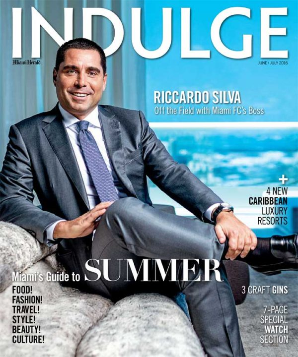 Riccardo Silva on the cover of Indulge Magazine