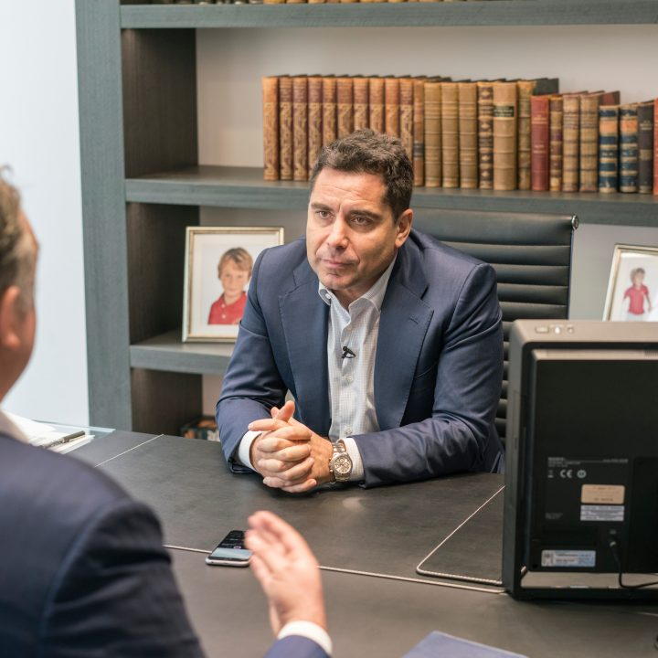 Riccardo Silva being interviewed by Gabriele Marcotti
