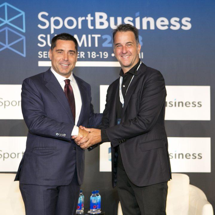 Riccardo Silva and UEFA Vice President, Michele Uva