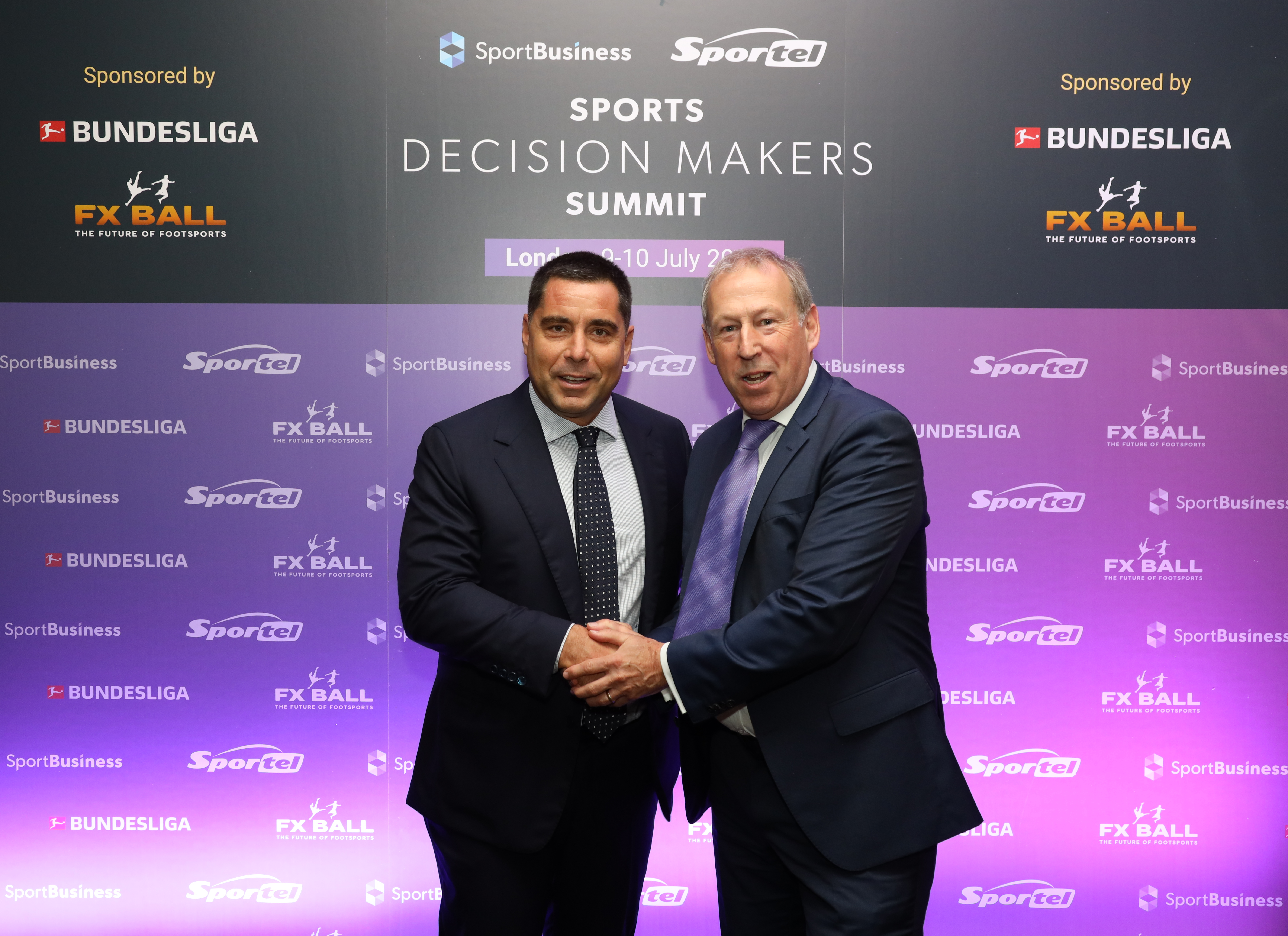 Riccardo Silva and Kevin Roberts, Group Editorial Director of SportBusiness, at the Sports Decision Makers Summit – London 2019