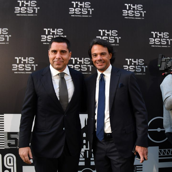 Silva International Investments and The Miami FC Owner Riccardo Silva and Globe Soccer CEO Tommaso Bendoni at The Best FIFA Football Awards in Milan
