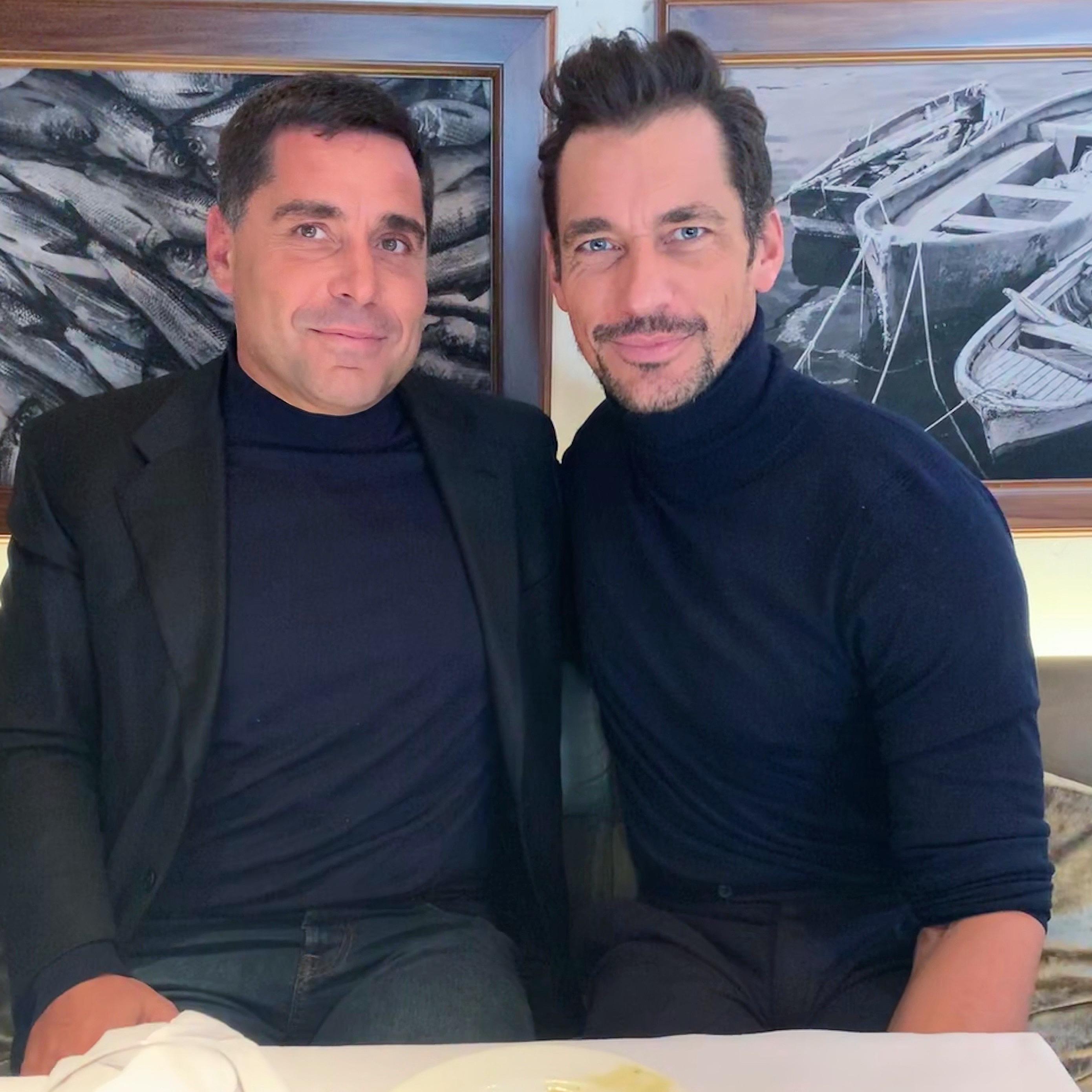 Riccardo Silva with David Gandy in London