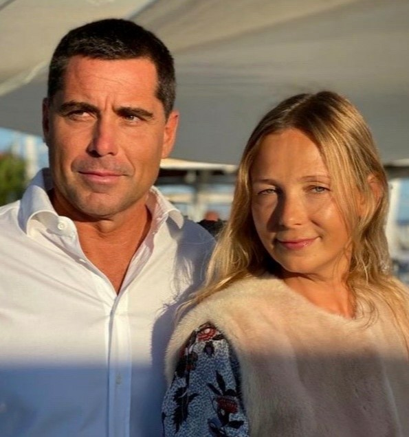Riccardo Silva and wife Tatyana