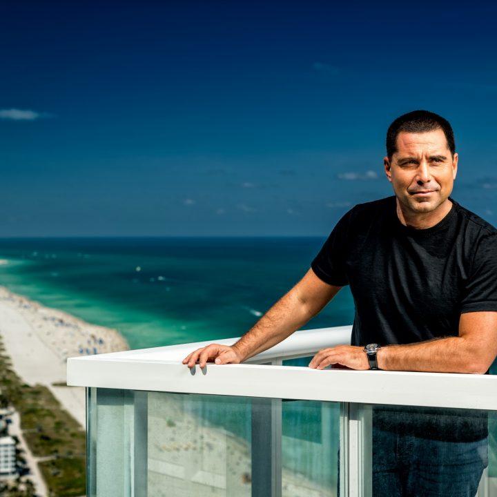 Riccardo Silva with a view of South Beach