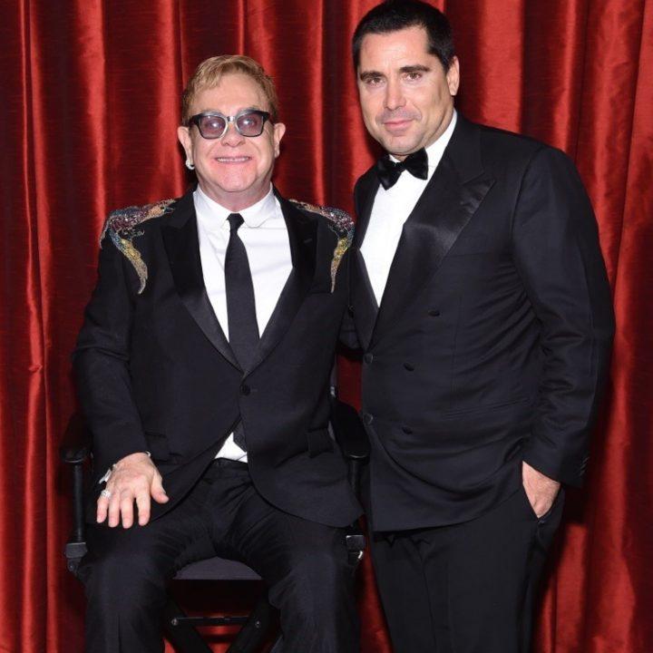 Riccardo Silva with Elton John