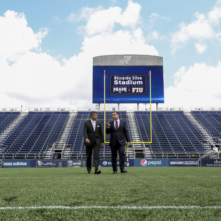 Riccardo Silva and Pete Garcia, FIU at The Riccardo Silva Stadium
