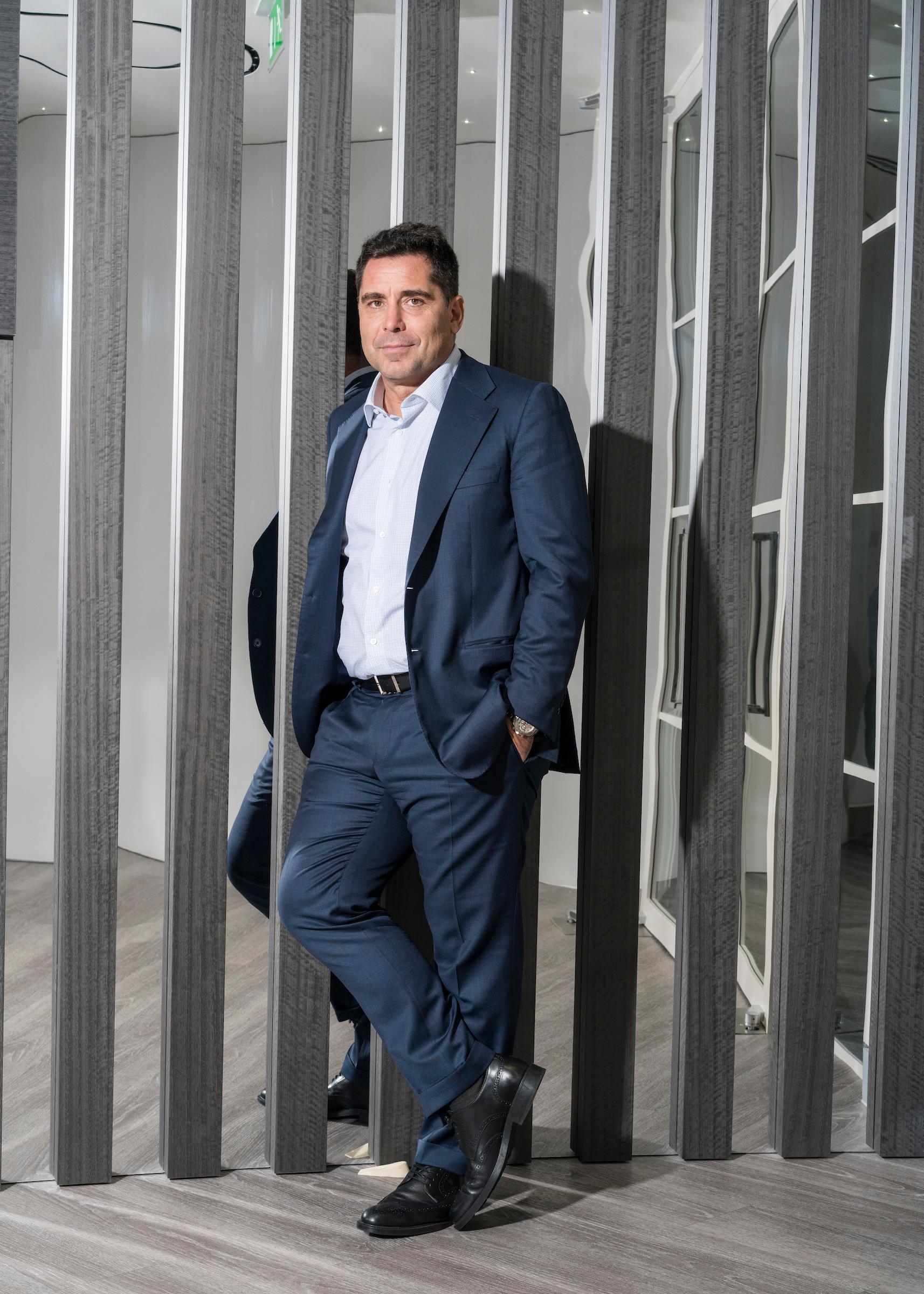 Riccardo Silva at Silva International Investments' London Office