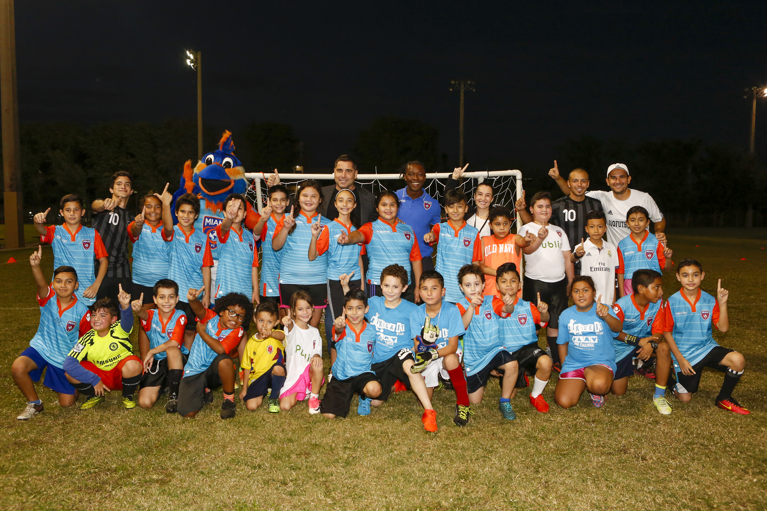 Riccardo Silva in Hialeah where Miami FC and Play for Change host a soccer school