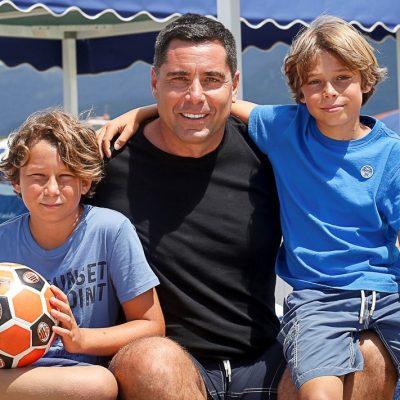 Riccardo Silva with his sons Giorgio Silva and Nikolay Silva at Forte dei Marmi – Italy