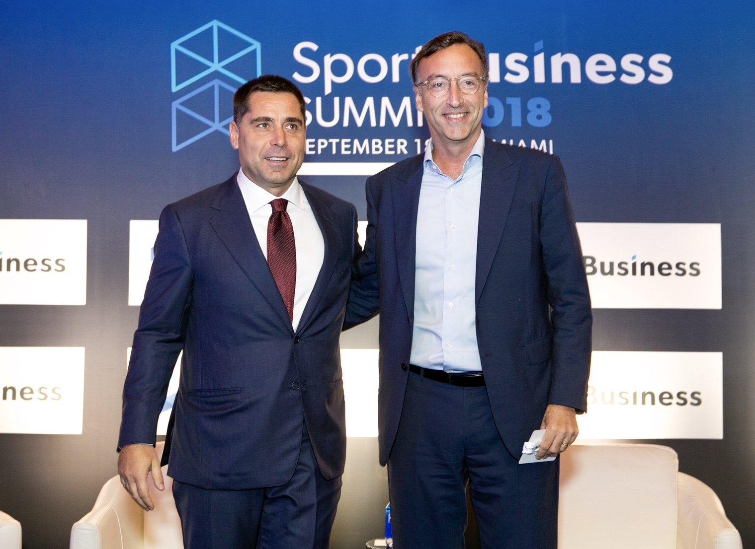 Riccardo Silva and the CEO of Silva International Investments, Marco Auletta at the SportBusiness Summit in Miami