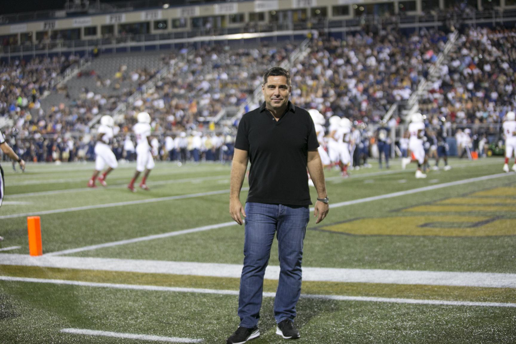 Riccardo Silva at Riccardo Silva Stadium in Miami, Florida