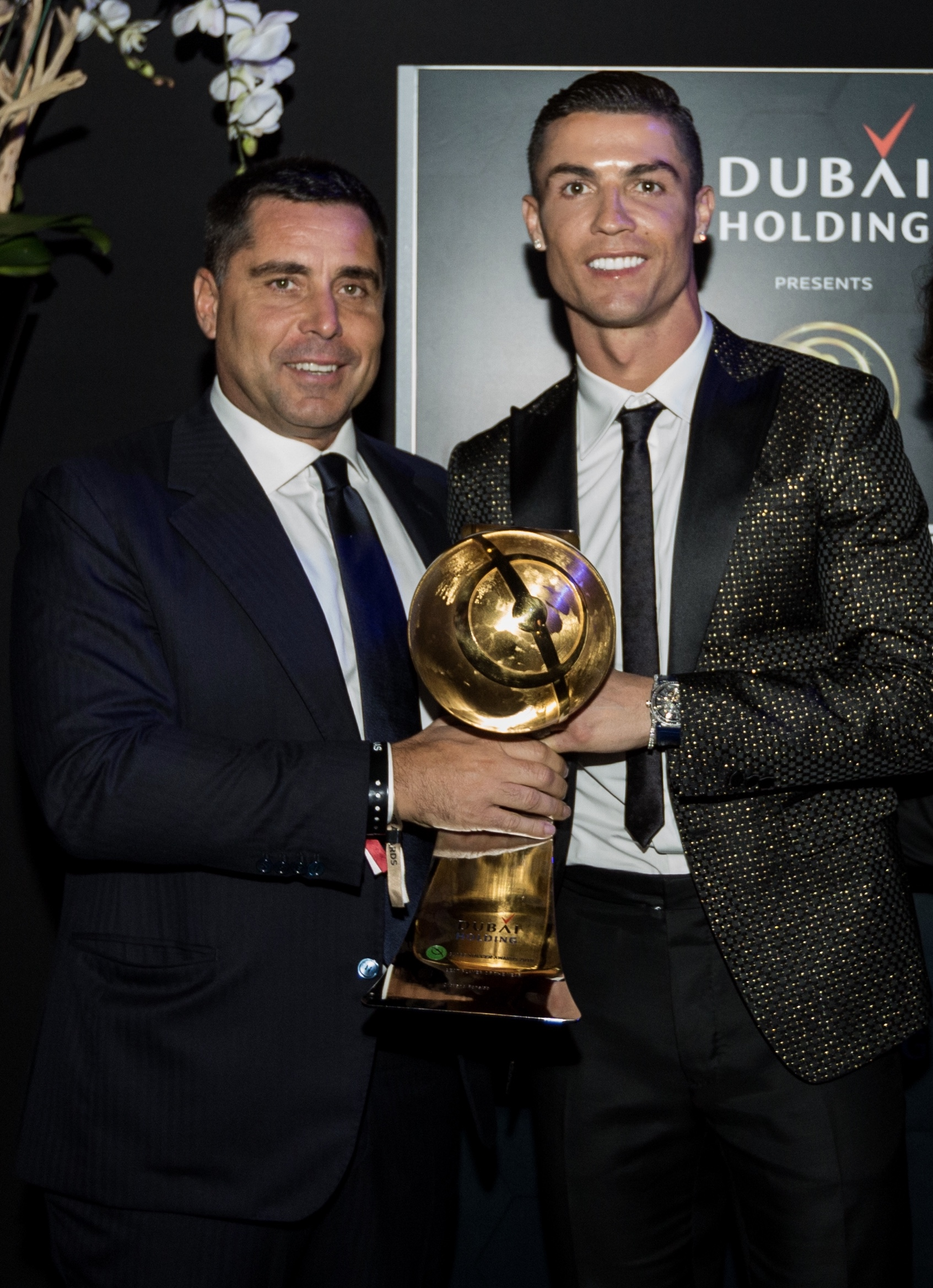 Riccardo Silva and Cristiano Ronaldo at Globe Soccer in Dubai